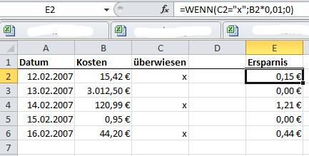 Excel Wenn